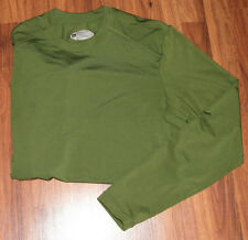 MENS REI OXT MOISTURE WICKING GREEN LONG SLEEVE SHIRT SZ M RECYCLED POLYESTER
