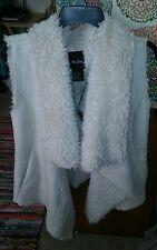 Me Jane NWT L Faux Fur Vest Cream Lush