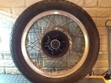 1975 Yamaha Xs 650 Rear 18 Inch Alumiunm Rim Hub ,Sprocket And Tire