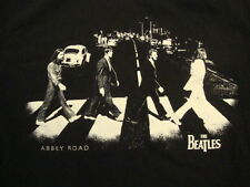 The Beatles Rock Band Abbey Road Album Cover Silhouettes Black T Shirt Size  M