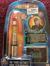 Doctor who   wave one   3rd doctor  two electronic sounds sonic screwdriver toy