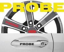 4 x Türgriff- Felgen Aufkleber Ford Probe 001 #1418