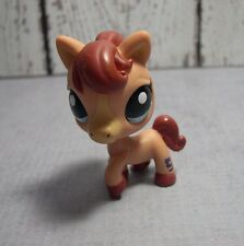 Littlest Pet Shop  #1742 tan horse blue eyes brown mane Buy 2 Ship Free in US