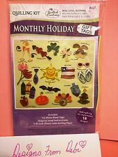 Quilled Creations Paper Quilling Kit ~ MONTHLY HOLIDAY - GIFT TAGS  ~12 ct.~ 437