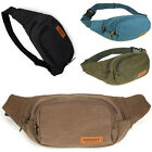 Men's Small Canvas Waist Bag Multifunction Phone Purses Outdoor Sport Fanny Pack