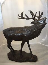 Large Stag in Bronze , Exclusive Bronze cast Stag , Big Bronze Stag baying
