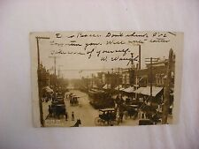 Real Photo Postcard RPPC State Street Car Trolley Belvidere Illinois IL #910
