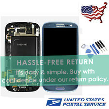 Blue LCD Touch Digitizer Screen Assembly +Frame For Samsung Galaxy S3 I747 T999