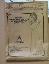 Vintage Past Patterns 302 1907 Edwardian Wedding Gown Dress Sz 10-16 Uncut
