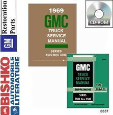 1969 1970 GMC Truck Shop Service Repair Manual DVD Engine Drivetrain Electrical