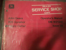 JOHN DEERE OPERATOR'S MANUAL 205 GYRAMOR ROTARY CUTTER ISSUE D2