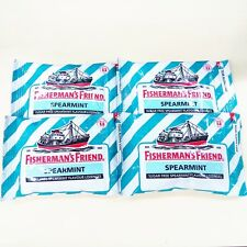 4 x 25 g Fisherman's Friend Sugar Free Spearmint (strong)  Free Shipping