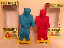 ROCK'EM SOCK'EM ROBOTS BOBBLEHEADS FUNKO WITH BOXES **MINT CONDITION**