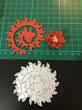 "3"" Flower Quilling Rolled Cutting Die for Sizzix Spellbinders Etc. Machine"