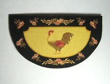 """Dollhouse Miniature """"Rooster"""" Welcome Mat or Rug - French Country Look"""