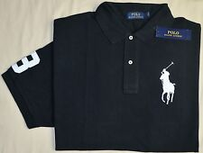 New 6XB 6XL BIG 6X POLO RALPH LAUREN Mens Big Pony shirt top black short sleeved