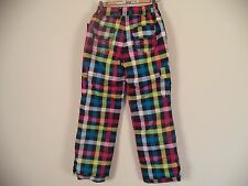 Kids Snow Pant. Falls Creek. XL (14-16). Multi Color. Pl;aids and Check. 100% Po