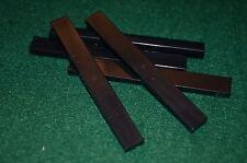 (5) BLACK 1x8 Smooth Finishing Tile Brick Bricks  ~ Lego  ~ NEW