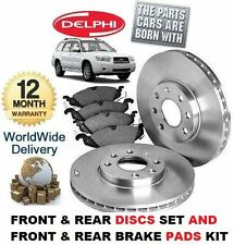 FOR SUBARU FORESTER 2.0 X 2005-2008 FRONT & REAR BRAKE DISCS & DISC PADS SET