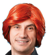 Mens Ginger Wig 70'S Retro Disco Diva Stag Do Party Fancy Dress