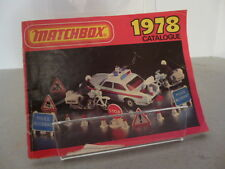 Matchbox Lesney Series International Pocket Catalogue 1978 Edition Diecast Model