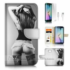 Samsung Galaxy ( S7 Edge ) Flip Wallet Case Cover P0713 Sexy Girl