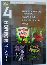 Bucket of Blood/Frogs/Return of the Living Dead/Swamp Thing (DVD 2011.. RARE NEW