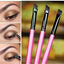 3Pcs/set Lady Cosmetics Eyeliner Eyebrow Lips Brush Angled Makeup Brushes Tool