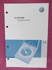 VOLKSWAGEN MFD DVD NAVIGATION / SAT-NAV / AUDIO USER MANUAL HANDBOOK (ACQ 3609+)