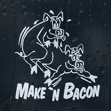 Humping Pigs Animals Making Bacon Funny Rude Car Or Laptop Decal Vinyl Sticker