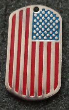 RUSSIAN DOG TAG PENDANT MEDAL  USA FLAG      #180S