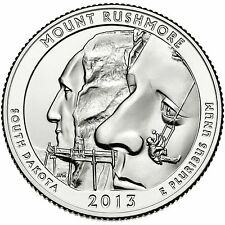 QUARTER DOLLAR DES ETATS-UNIS 2013 P - MOUNT RUSHMORE NATIONAL MEMORIAL