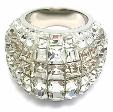 Swarovski Ring Trema Large Palladium PVD SIZE 52 Small UK L ref 5000804
