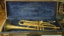 ANTIQUE TRUMPET OLD TRI COLOR NICKEL, BRASS, COPPER FOR REPAIR ESTATE  FIND
