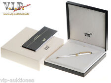 MONTBLANC MEISTERSTÜCK SOLITAIRE FÜLLER FOUNTAIN PEN STYLO PLUME STERLING SILVER