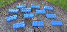 lot of 12 blue Lego plates - 2X4