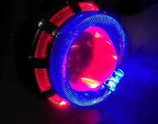 HID Double Ring Projector WITH COOLING FAN For CAR/ BIKE/ ENFIELD- RED- BLUE