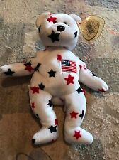 Ty Beanie Baby ~ GLORY the Bear ~ MINT with MINT TAGS ~ RETIRED  Hard Cube Case