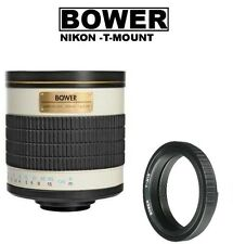 Bower 500/1000mm f/6.3 Telephoto Mirror Lens for Nikon DSLR Camera