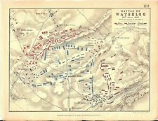 Map - Battle of Waterloo 18 June 1815 - Crisis Of The Battle