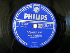 "78 rpm 10"" KEN GRIFFIN galway bay / when irish eyes are"