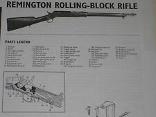 REMINGTON ROLLING BLOCK RIFLE EXPLODED VIEW