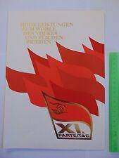 DDR Gedenkblatt XI. Parteitag der SED 1986 Mi 3009 3010 3011 3012 Block 83
