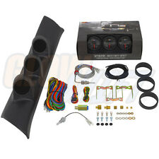 94-97 DODGE RAM CUMMINS TRIPLE PILLAR POD + BLACK 7 GLOWSHIFT DIESEL GAUGE KIT