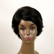perruque afro femme 100% cheveux naturel courte noir ref WHIT 04/1b