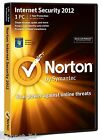 Norton Internet Security 2012 1 Year Protection PC Free Upgrade to 2015/16 DVD