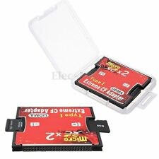 2 Port Micro SD SDXC TF Vers Compact Flash CF Type I Carte Memoire Adaptateur