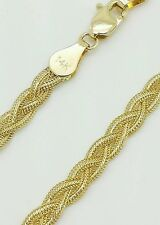"""14k Solid Yellow Gold Braided Wheat Fox Chain Anklet 10"""""""