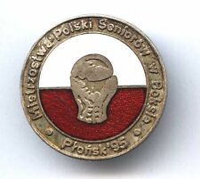 pin POLISH SENIOR BOXING CHAMPIONSHIPS Plonsk 1995  badge with glove