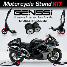 Pro Bike Stand Kit Front & Rear Lift Spool Package for Suzuki GSX1300R HAYABUSA